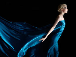 Blue Silk Stock - Concept by Faestock by MariaAmanda