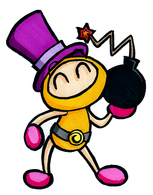 Purple-Top-Hat Yellow Bomber by Katzii-Yataki