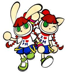 Mimi Bomber and Nyami Bomber by Katzii-Yataki