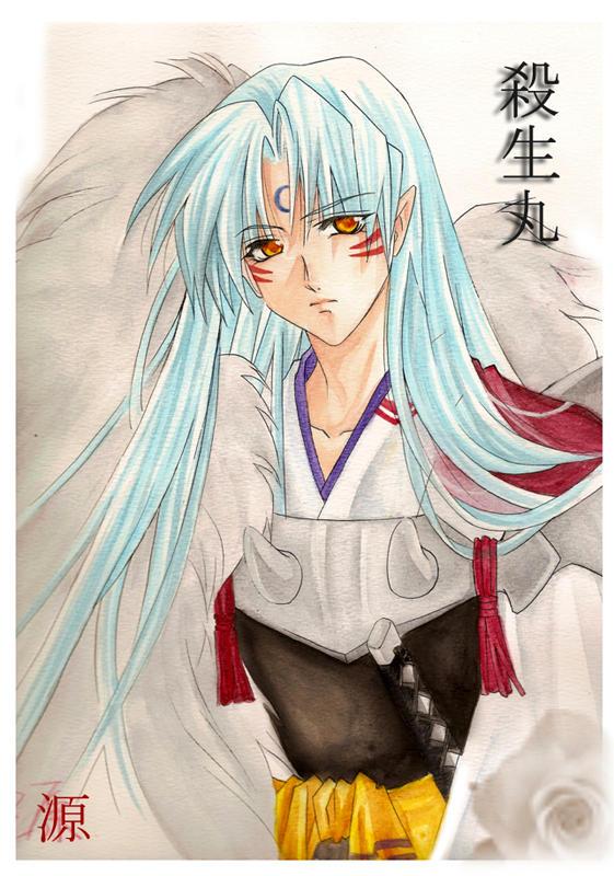 Sesshomaru -- watercolor by Setomi