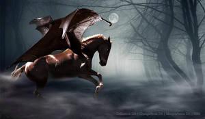 Shady Forest Bat-Horse by CarolineArtworks