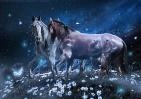 Love Under Moonlight by CarolineArtworks