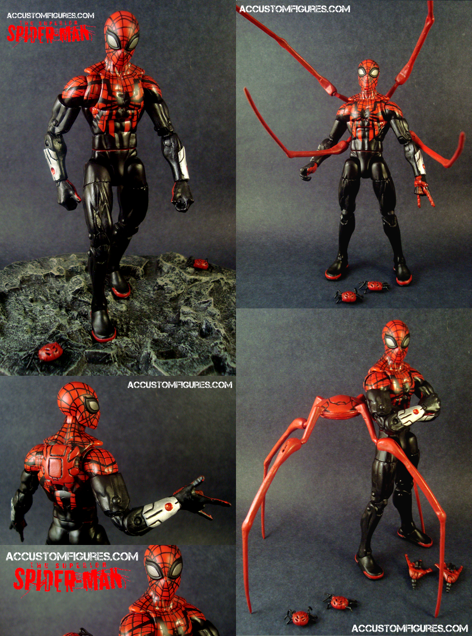 superior spiderman marvel legends custom figure by