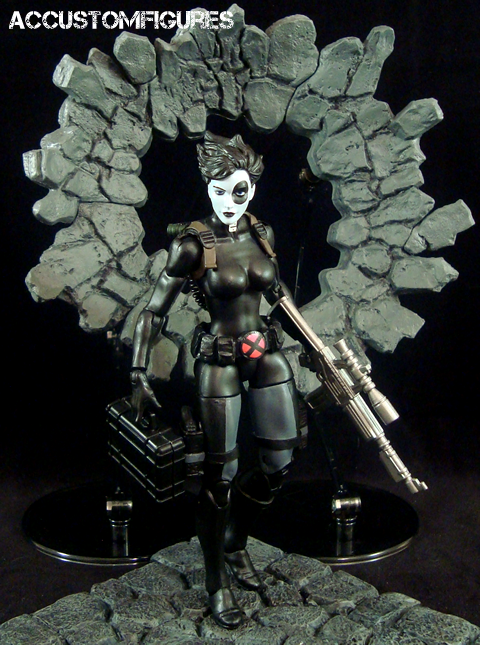 xforce domino marvel legends custom figure by