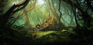 Mechanical swamp by Exphrasis