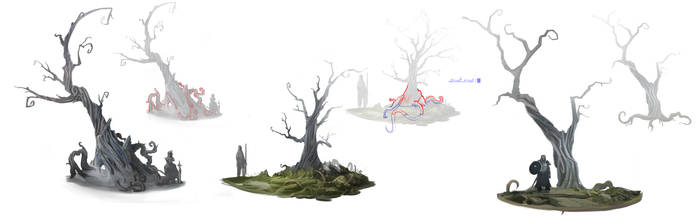 Aarklash : Legacy tree concept by Exphrasis