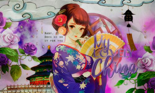 Lovely China by MinmeyPrints