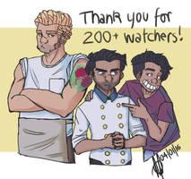 200 Watchers by TheStupidFox