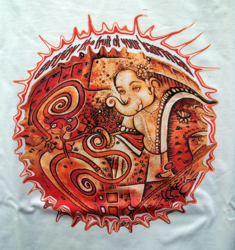 santoshirts red ganesh by santoshirts