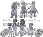 Lineart Commission Sample: the Hobbit by dawnshue