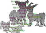 Lineart Sample : Jokoa Breedables by dawnshue
