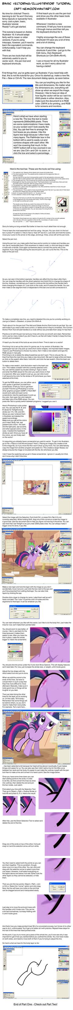 Illustrator/Vector Tutorial Part One by Capt-Nemo