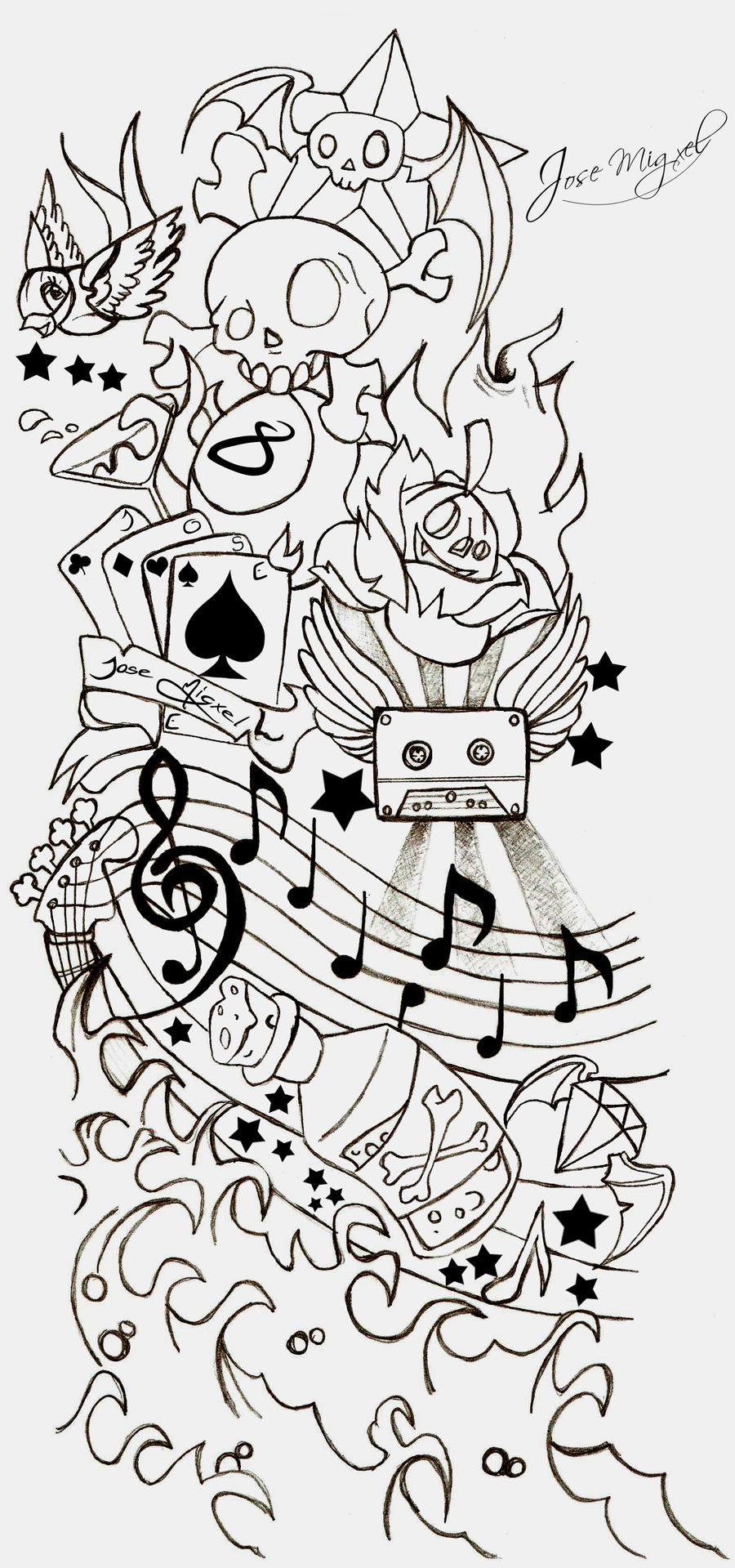 Tattoo New School By Ripskool Digital Art Drawings Illustrations
