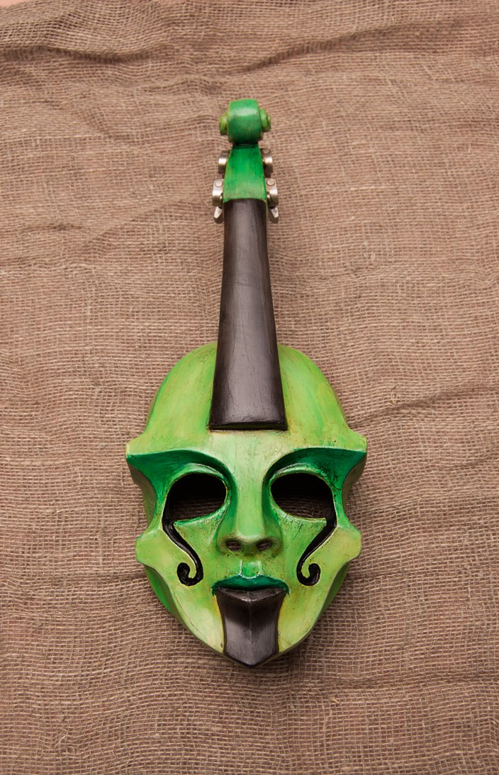 79) Green Contrabass - 1 by Edward-Jekyll