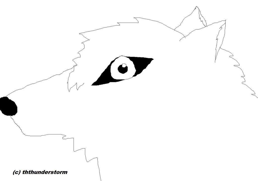 Wolf Head Template Wol...