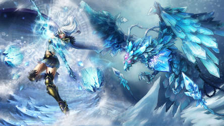 Ashe + Anivia - LoL Wallpaper by DioHard