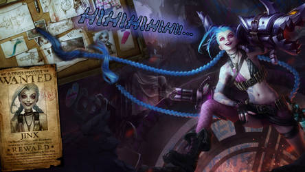 Jinx WANTED - League of Legends Wallpaper by DioHard