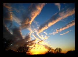 Tiger Striped Sunset 3 by FramedByNature