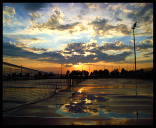 Sundown on the Courts by FramedByNature
