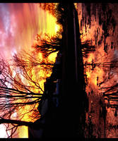 Urban Kansas Sunset by FramedByNature