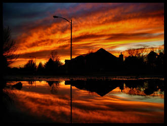 The Neighborhood Ablaze by FramedByNature