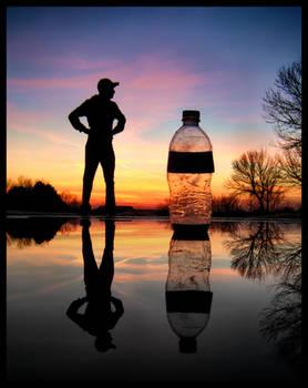 Man vs. Water Bottle