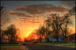 Springtime Street Sundown