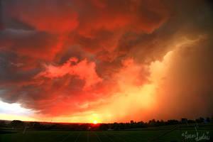 September Sunset Shelf by FramedByNature