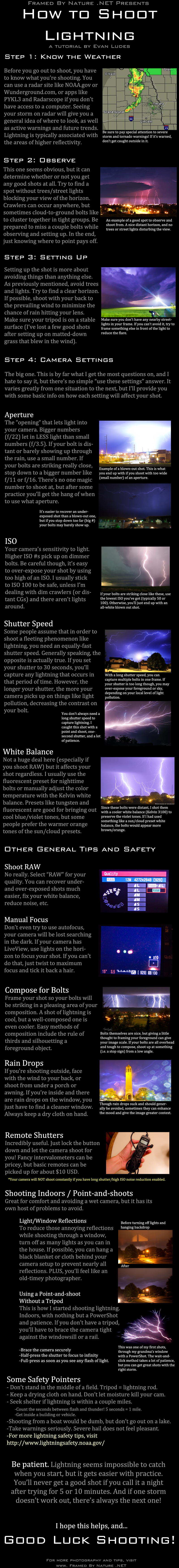 Lightning Photography Tutorial by FramedByNature
