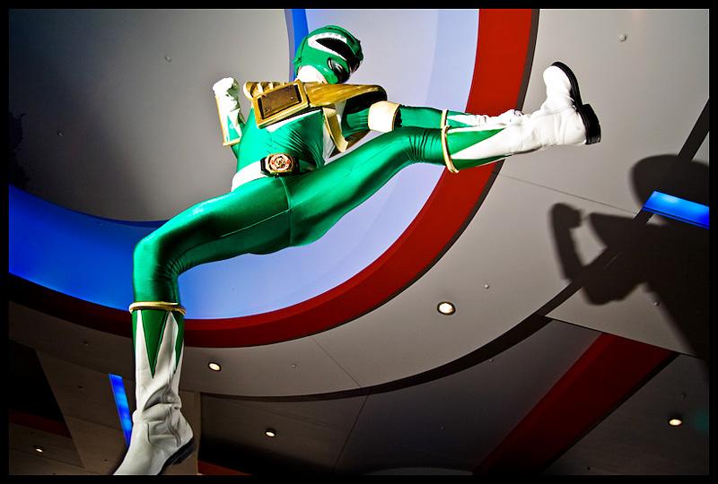 Green Ranger: High Kick by Elemental-Sight