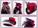 Madame Red - Mini Riding Hat