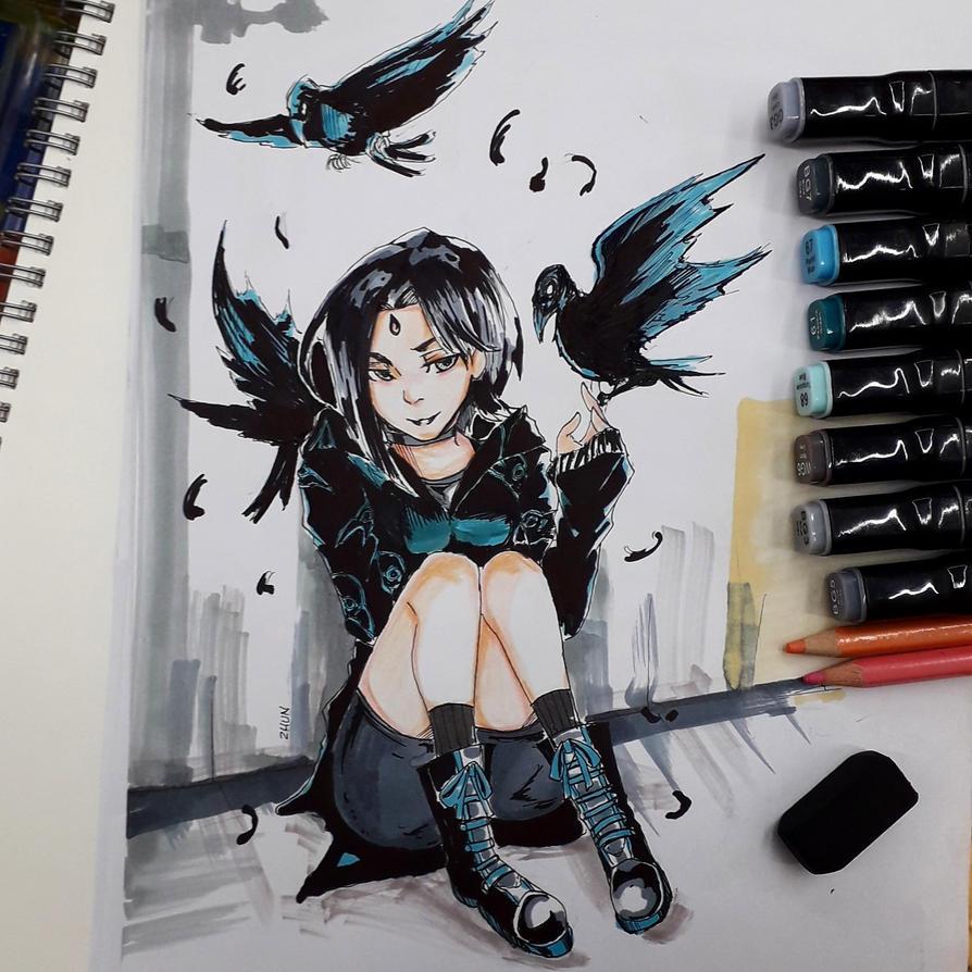be my feathers by WinterDoorBell-zhun