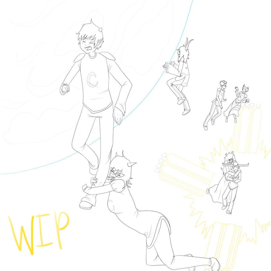 WIP: Prospit Trolls by singingcatartist12