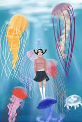 Princess Jellyfish by singingcatartist12