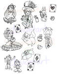LINEART: Alice stickers
