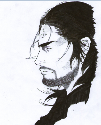 Musashi Miyamoto From Vagabond By Akui-no-Rinkaku On