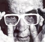 Krzysztof Kieslowski Portrait by Akui-no-Rinkaku