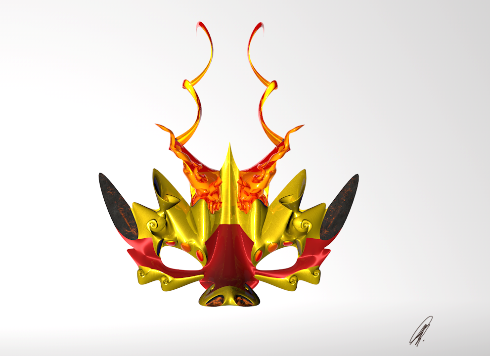 Fire Dragon mask by karend07