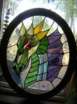 Stained Glass Dragon Panel