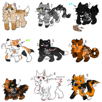 [5/9 OPEN] Teeny Warrior Cat Adopts! SALE by Salicos