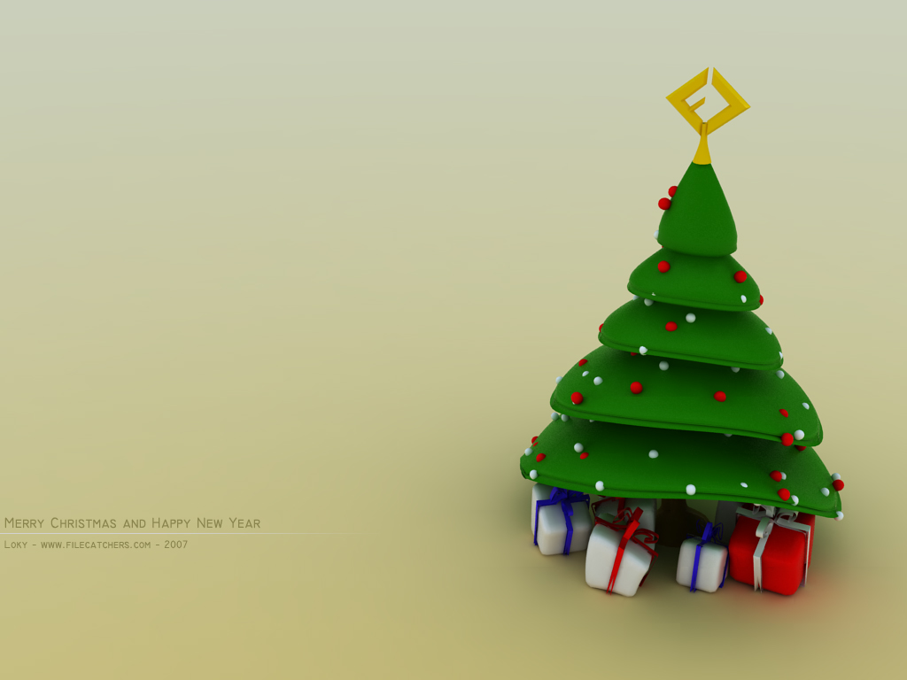 Christmas Tree and Gifts, High Quality Wallpaper