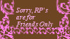 Rp for friends only stamp by inuysha-link-lover