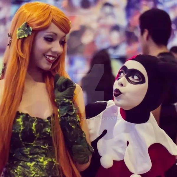 Harley Quinn and Poison Ivy by AnnPoe
