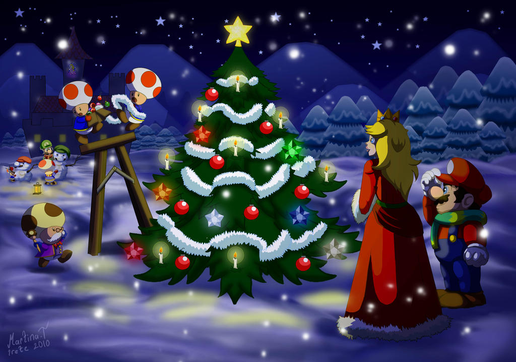 Christmas in Mushroom Kingdom by Irete on DeviantArt