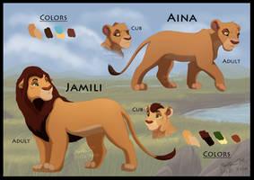 Character sheet: Aina and Jamili (Updated) by Irete