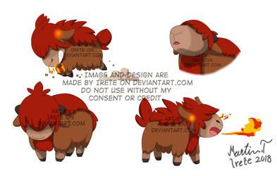Fakemon - Fire starter by Irete