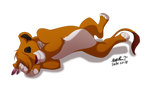 Sleeping lioness (Commission) by Irete
