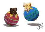 Bouncing cubs (commission) by Irete