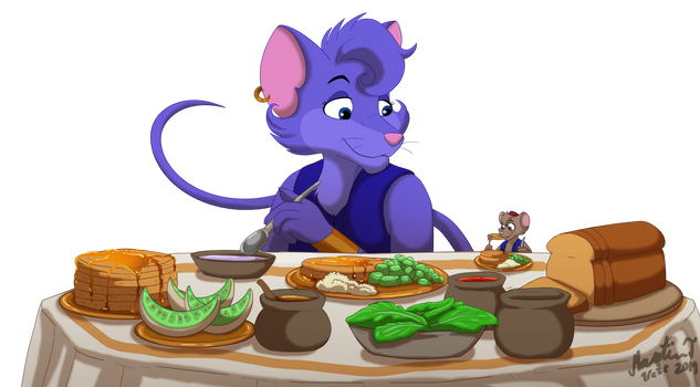 A Big Breakfast {Commission} by Irete