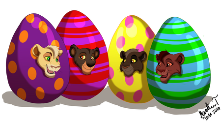 Easter Cubs (Commission) by Irete